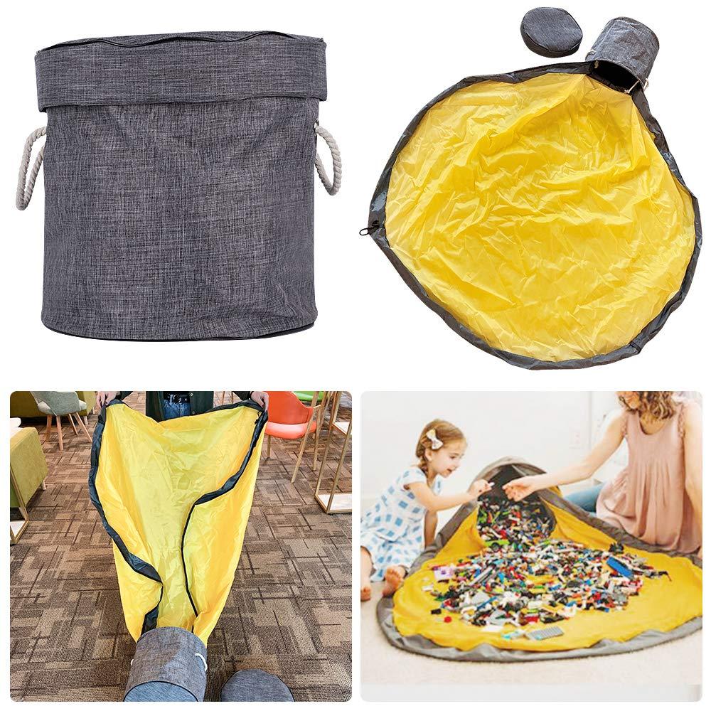 Wegreeco Kinder Aufr/äumsack Spielzeug Aufbewahrung Beutel Spielzeugaufbewahrung korb Speicher Tasche Spielzeugsack mit Drawstring Spieldecke