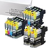 エコスロバキア ブラザー用互換 LC111 4色セットx2 ブラック2本 ICチップ付 互換インクカートリッジ