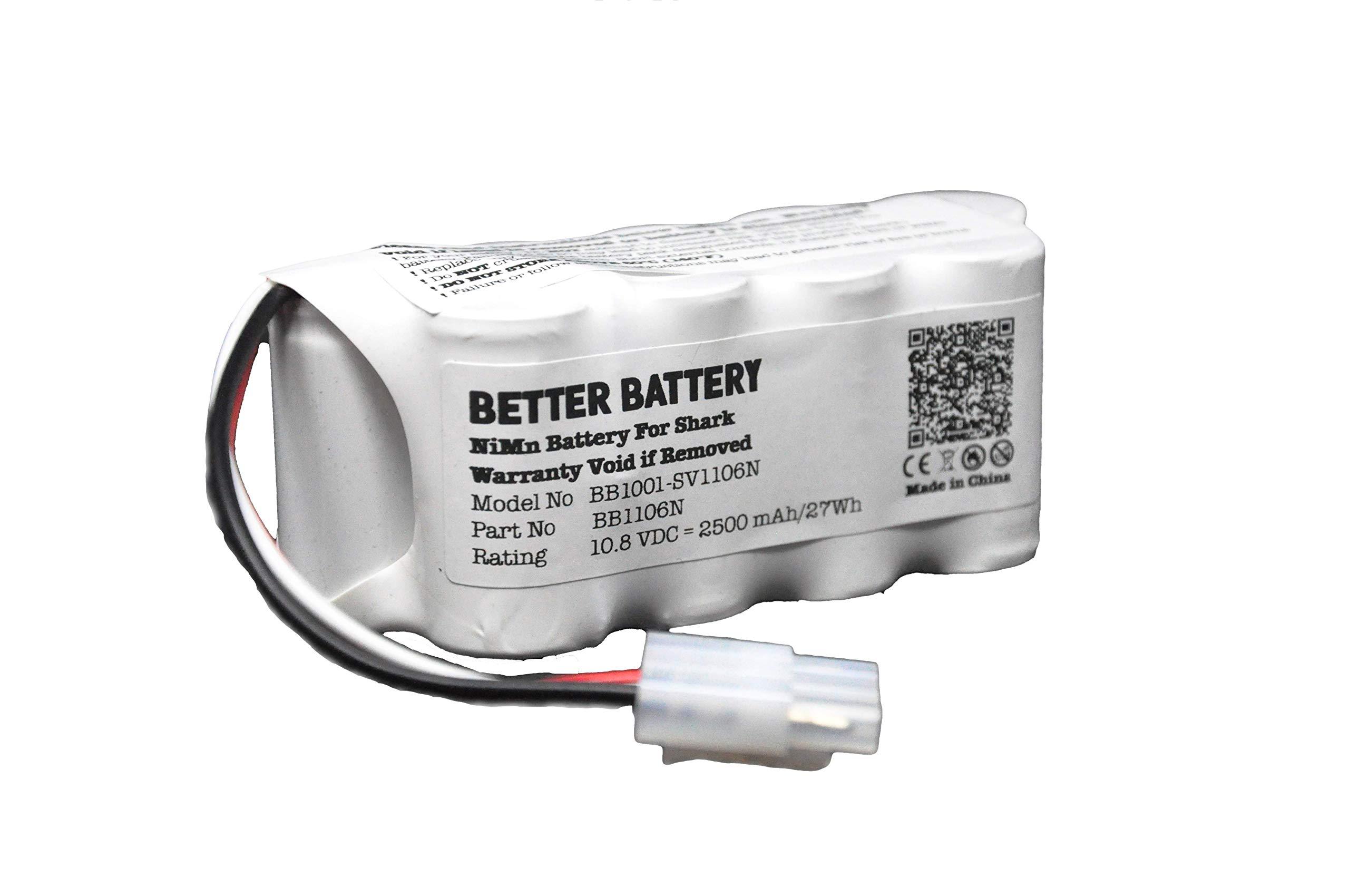 Better Battery Vacuum Battery for Shark Navigator Freestyle Cordless Stick Vacuums XBT1106N SV1110 SV1106N SV1110N SV11O6N SV116N by Better Battery
