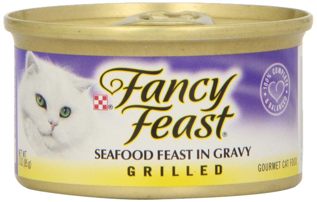 Fancy Feast Grilled Seafood Cat Food, 3 oz