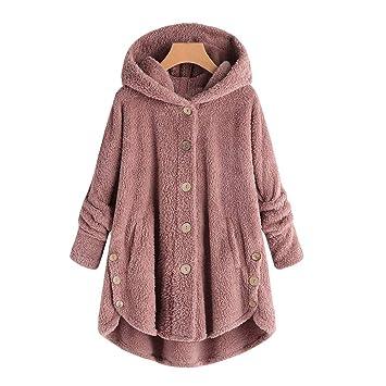 Mujer niñas abrigo Invierno pelo,Sonnena ❄ abrigo para mujer Caliente ropa casual Al aire