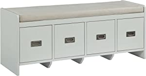 ACME FurnitureBerci White Bench with Storage