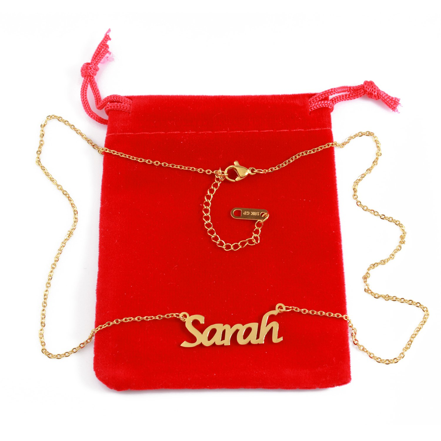 18ct Gold Plated Zacria Sarah Name Necklace