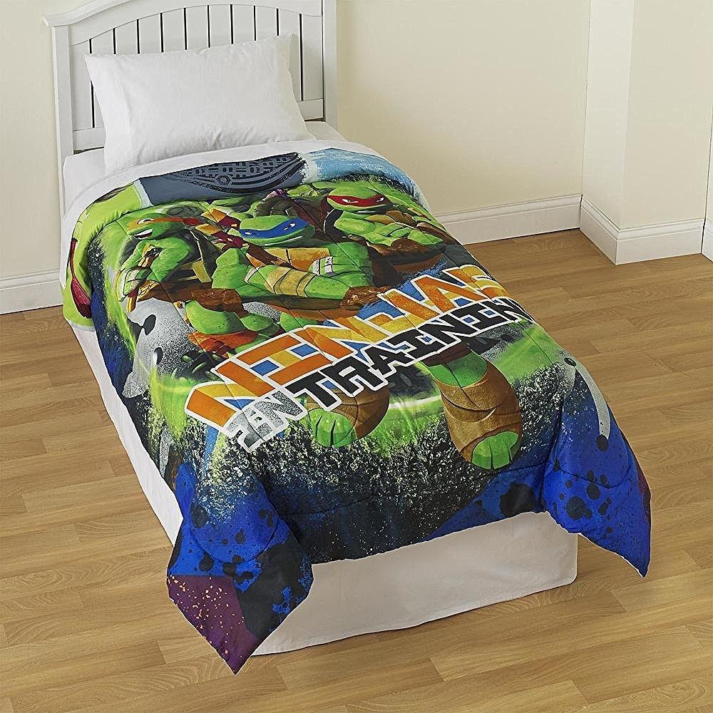 Michelangelo /& Raphael Official Nickelodeon Product Donatello Nickelodeon Teenage Mutant Ninja Turtles City Limits Reversible Twin Comforter with Leonardo