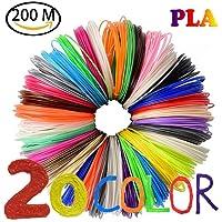 3D Stylo Filament NuoYo 10m/20 Couleurs PLA Filament Point de fusion est 160-180℃ Filament PCL 1.75mm pour 3D Stylo à l'impression 3D Dessin (PLA)
