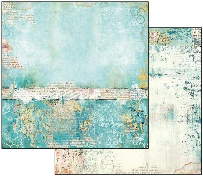 Stamperia Papel Scrap Wonderland Textura Turquesa, Multicolor, Talla unica: Amazon.es: Hogar