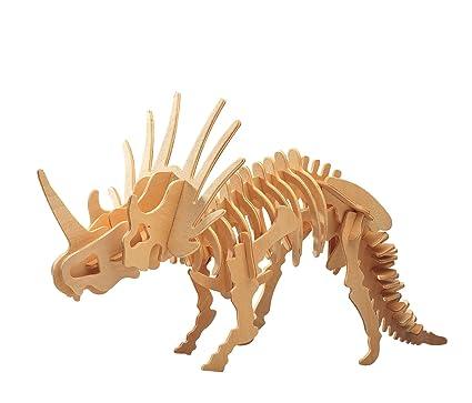 Amazoncom Puzzled Styracosaurus Large Wooden 3d Puzzle