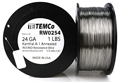 24 Gauge Kanthal Wire | Temco Kanthal A1 Wire 24 Gauge 1 Lb 1018 Ft Resistance Awg A 1 Ga