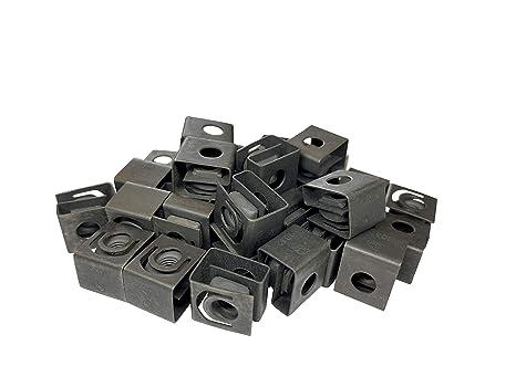 RackGold Black 10-32 Slide-on Cage Nuts 25 Pack USA Made