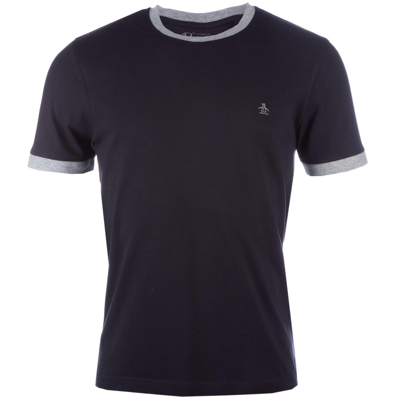 Black Original Penguin Mens Embroidered Logo T-Shirt