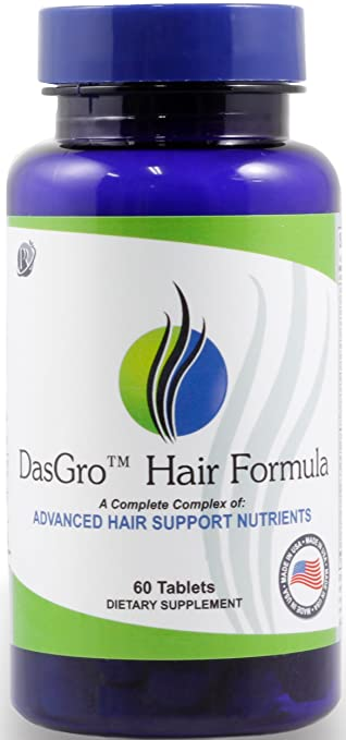 DasGro Hair Growth Vitamins With Biotin & DHT Blocker, Stops Hair Loss