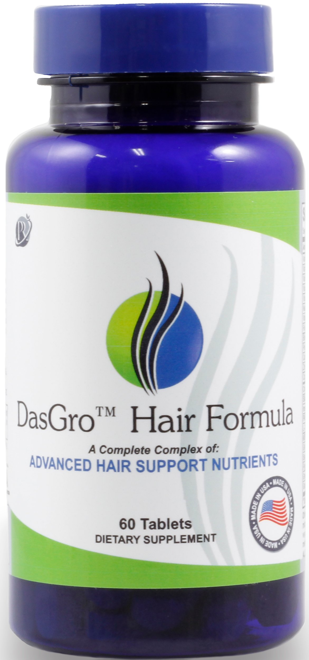 DasGro Hair Growth Vitamins With Biotin & DHT Blocker, Stops Hair Loss, Thinning, Balding, And Promotes Hair Regrowth In Men & Women, All Hair Types, 30 Day Supply by PURE PLANT HOME (Image #1)