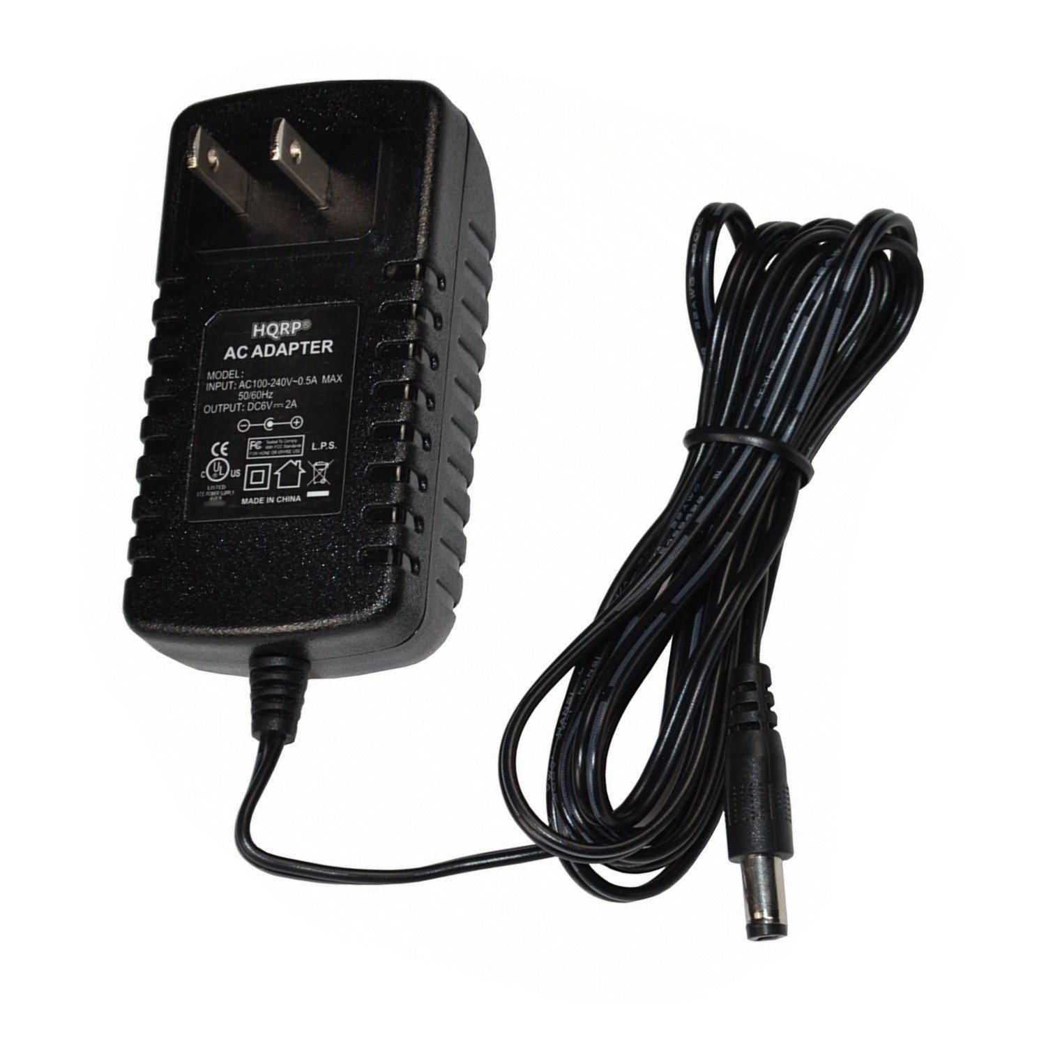 HQRP AC Power Adapter for A&D LifeSource UA-631 / UA-767 / UA-767T / UA-767TL / UA-767PV / UA-767PVL / UA-767PVS / UA-789AC Blood Pressure Monitor plus HQRP Euro Plug Adapter