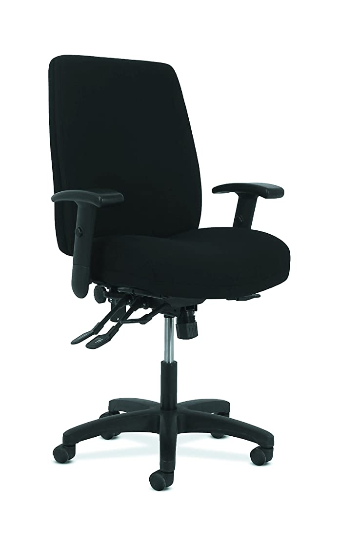 HON Network Series High-Back Task Chair - Computer Chair for Office Desk, Black Fabric (HVL283)