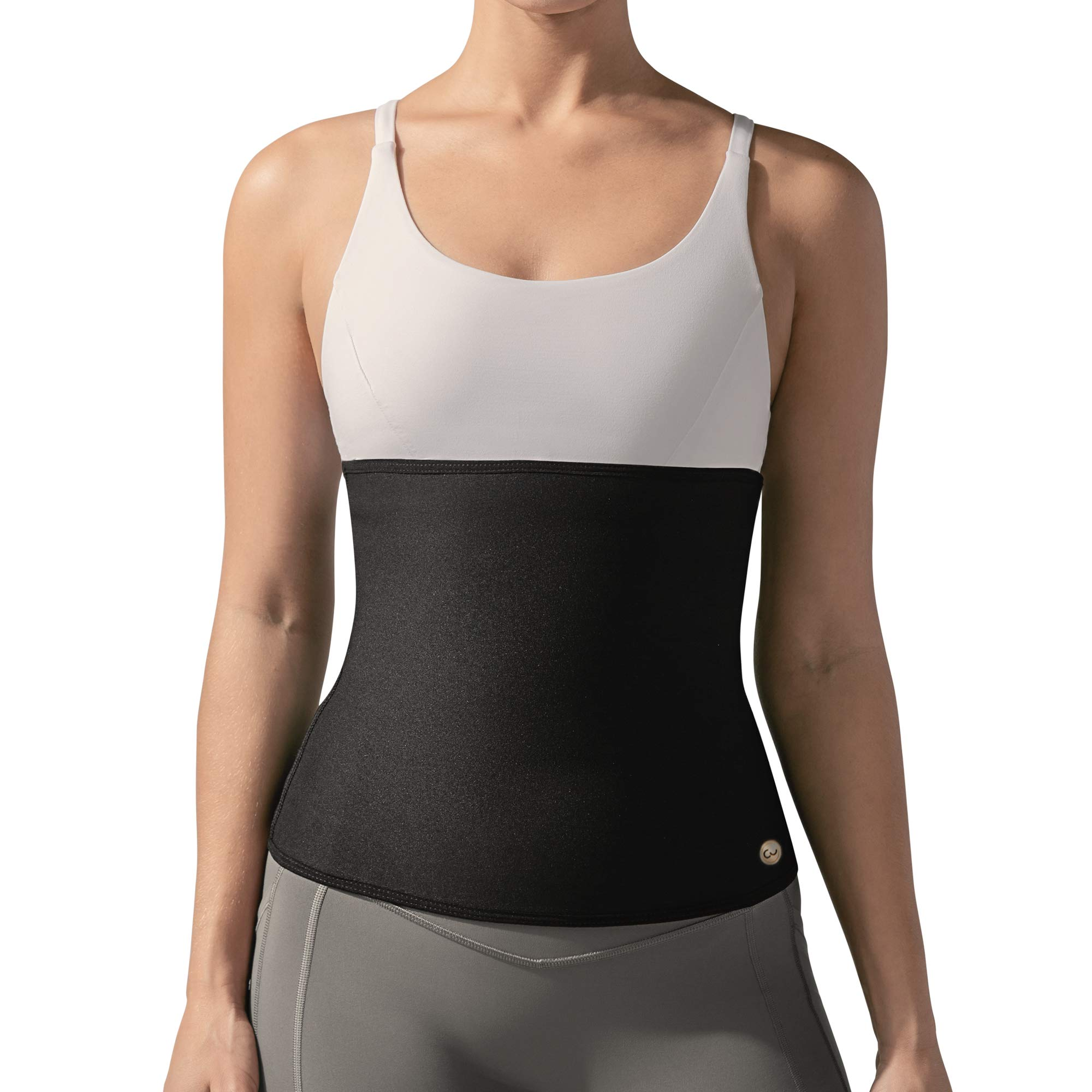 Copper Slim Compression Waist Belt for Women - Workout Belt Increases Sweat & Circulation (Black, M) by Copper Slim