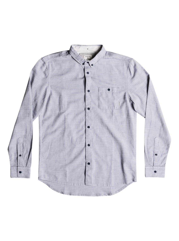 Quiksilver Men's Waterfalls Long Sleeve Button Down Shirt Shirt, Vintage Indigo, M