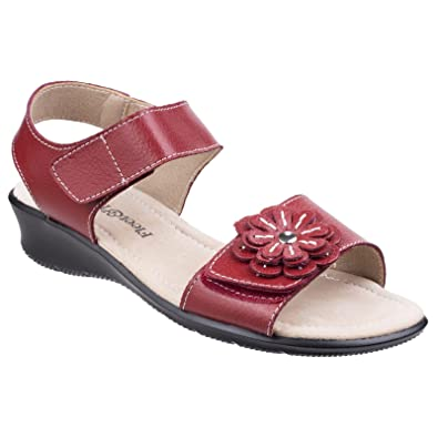 54d1e6c0f5cc4 Fleet   Foster Womens Ladies Sapphire Touch Fastening Sandals (4 UK) (Red