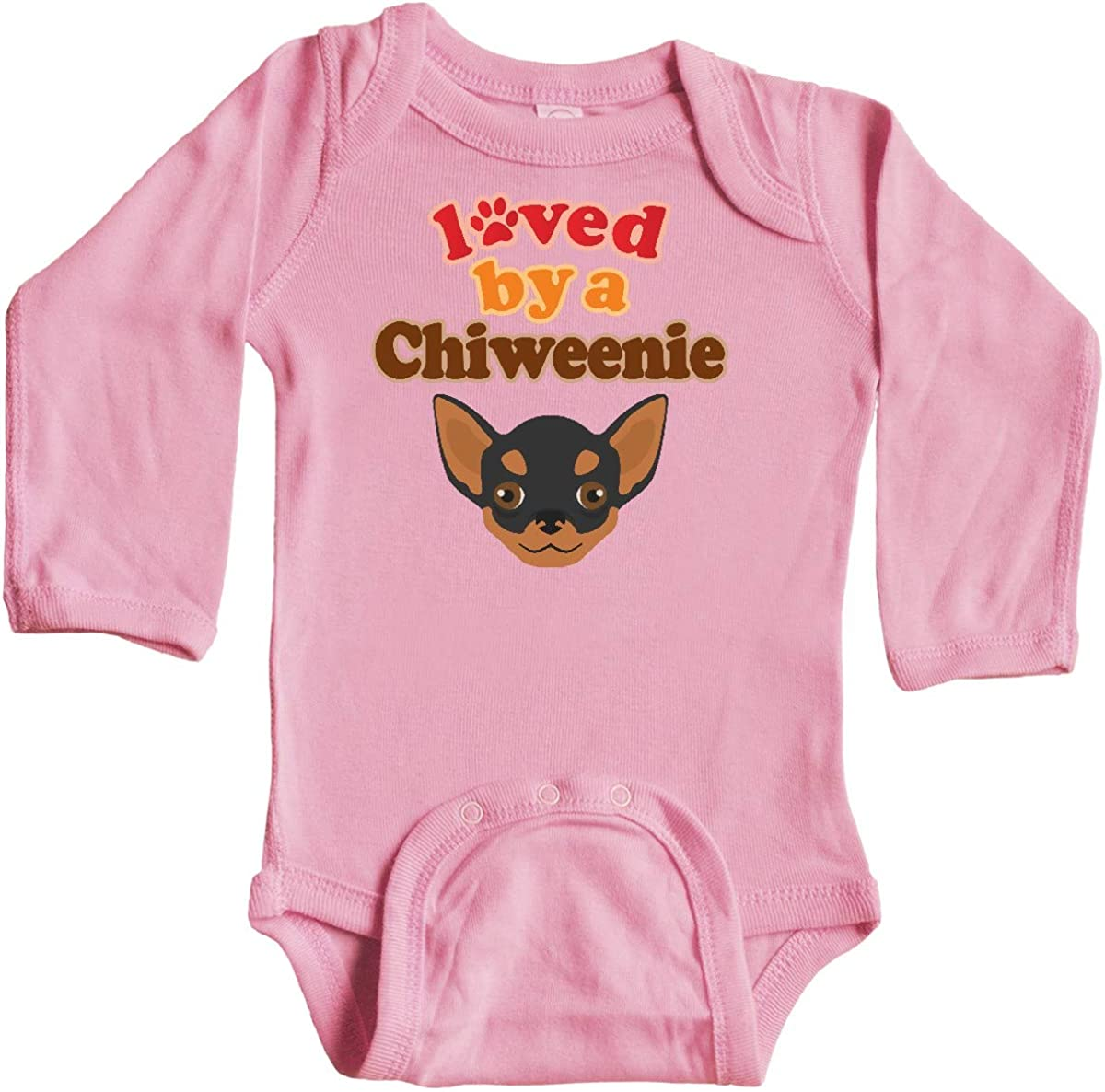 inktastic Chiweenie Dog Gift Long Sleeve Creeper