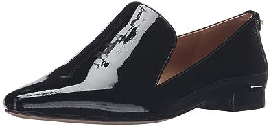 2f3a3de2bd7 Calvin Klein Women s ELIN Patent Loafer Flat Black 5 Medium US