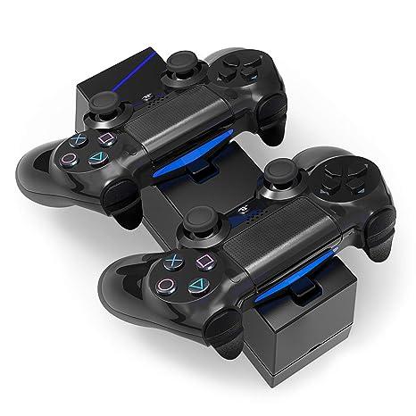 Airmate Cargador Controlador de PS4, Cargador USB Dual Dock ...