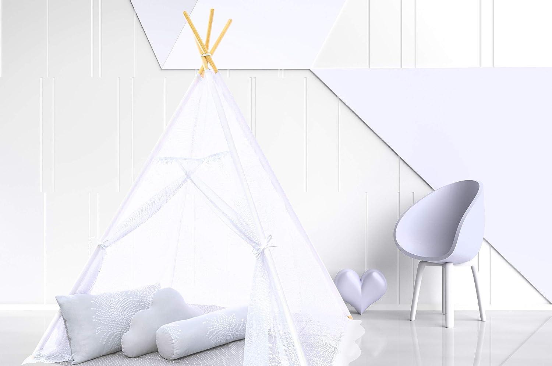 Spielzelt mit Tipidecke ohne 3 x Kissen Amilian® Tipi Spielzelt Zelt für Kinder T64 (Spielzelt mit Tipidecke ohne 3 x Kissen)