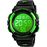 Kids Digital Sports Watch for Boys Girls, Boy Waterproof Casual Electronic Analog Quartz 7 Colorful Led Watches with…