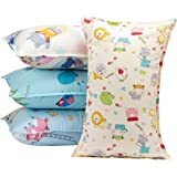 """Biubee 4 packs ( 14""""X 21"""") Toddler Pillowcases - Fits Pillows Sized 12x16, 13x18 or 14x19, Natural Organic Cotton Pillow Cover Envelop Style for Baby, Infant and Kids"""