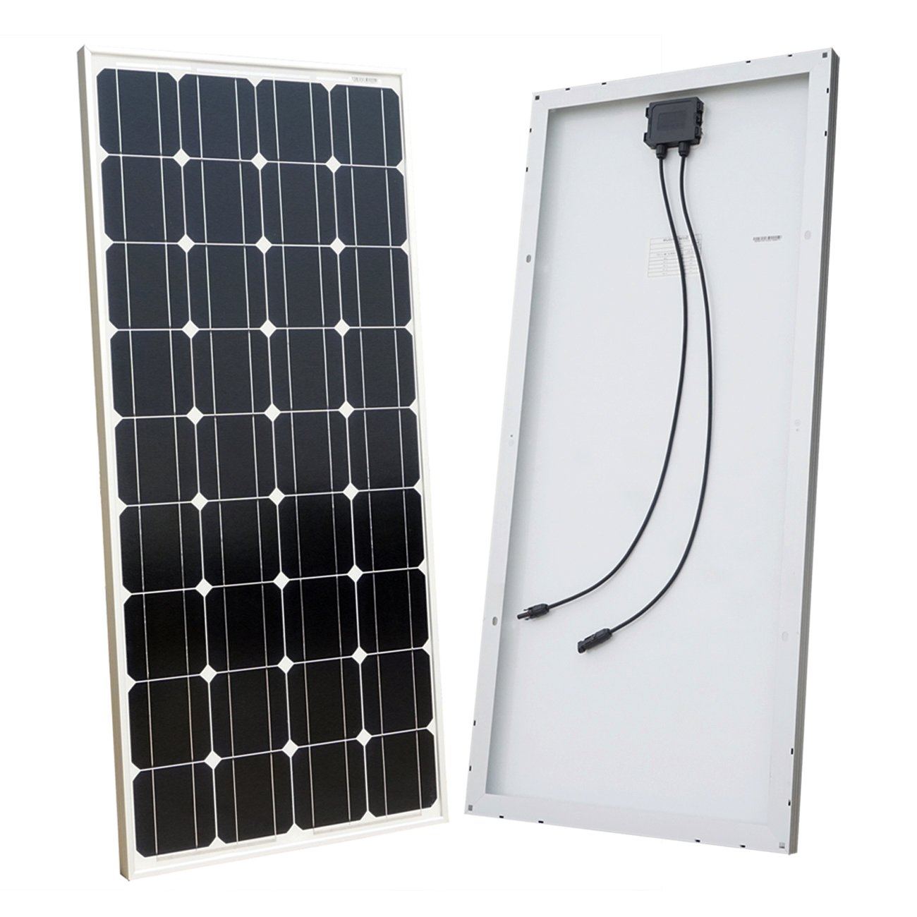 ECO-WORTHY 100 Watt Solar Panel 12 Volts Monocrystalline Solar Panel High Efficiency Mono Module RV Marine Boat Off Grid by ECO-WORTHY (Image #1)