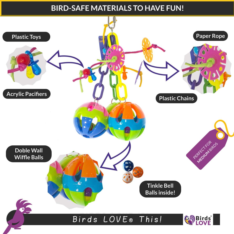 Amazon.com: Birds Love - Pelotas de triple amenaza y cadenas ...