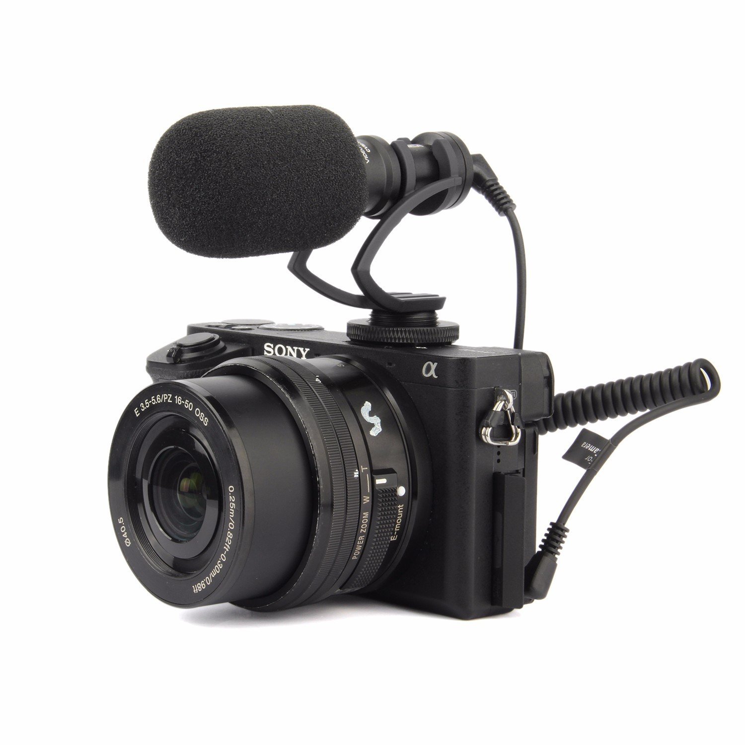 EACHSHOT Comica CVM-VM10 II Cardioid Directional Shotgun Video Microphone for DJI OSMO Smartphone GoPro and Micro Camera with Black Shock-Mount Windscreen Wind Muff and Carrying Case (Black)