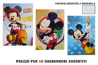 E.O.L. QUADERNONE Gold Maxi Mickey RIGATURA Q Confezione 10 Pezzi