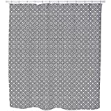Uneekee Islamic Black And White Shower Curtain: Large Waterproof Luxurious Bathroom Design Woven Fabric