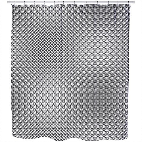 Uneekee Islamic Black And White Shower Curtain: Large Waterproof Luxurious Bathroom Design Woven Fabric by uneekee
