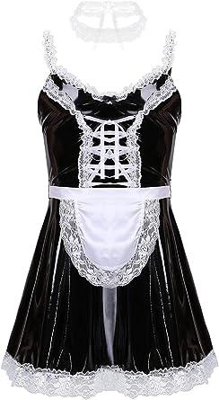Femme Lingerie Soubrette Déguisement Jeu de Rôle Robe Costume Cosplay