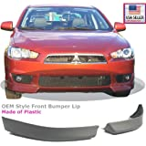 08-12 Mitsubishi Lancer Front Bumper Air Dam Lip Spoiler Body Kit Plastic Primer 2008 2009 2010 2011 2012