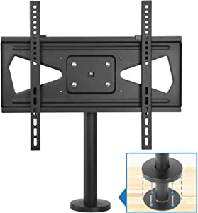 "Mount-It! Bolt Down TV Stand | Heavy Duty Swivel Table Top TV Mount for Screens 32"" - 55"" 
