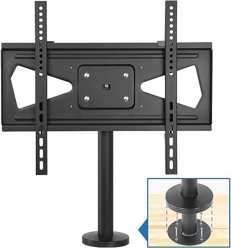 Mount-It Bolt Down TV Stand Heavy Duty Swivel Table Top TV Mount for Screens 32 – 55 Desktop TV VESA Mount with Swivel Steel, Black