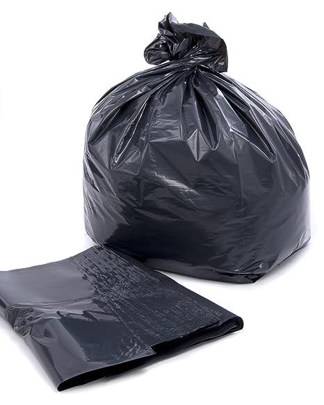 10 negro/resistentes Compactor bolsas/bolsas de basura 60 ...