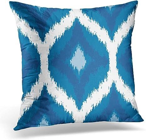 Abstract Blue Geometric Printed Throw Pillowcase Square Cushion Cover Home Decor