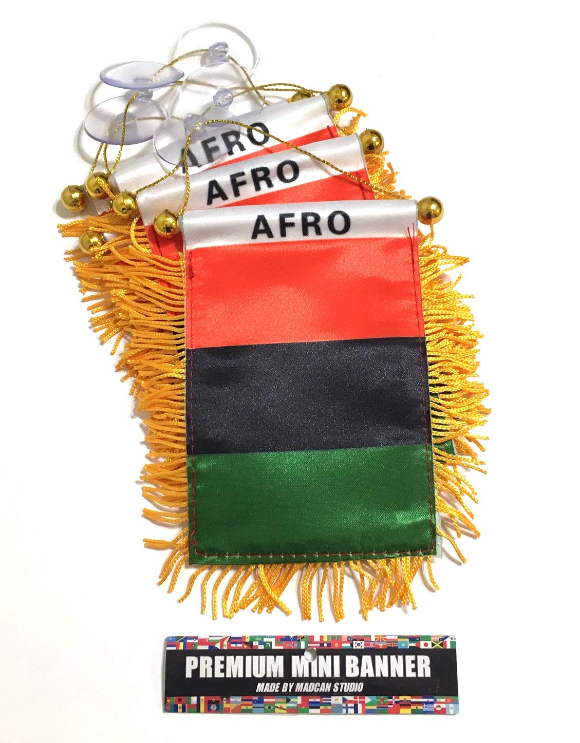Mad can studios African American Flags for Cars Automobile Accessories Red Black and Green Home Wall Art Nice Country Flags Wholesale Direct (12)