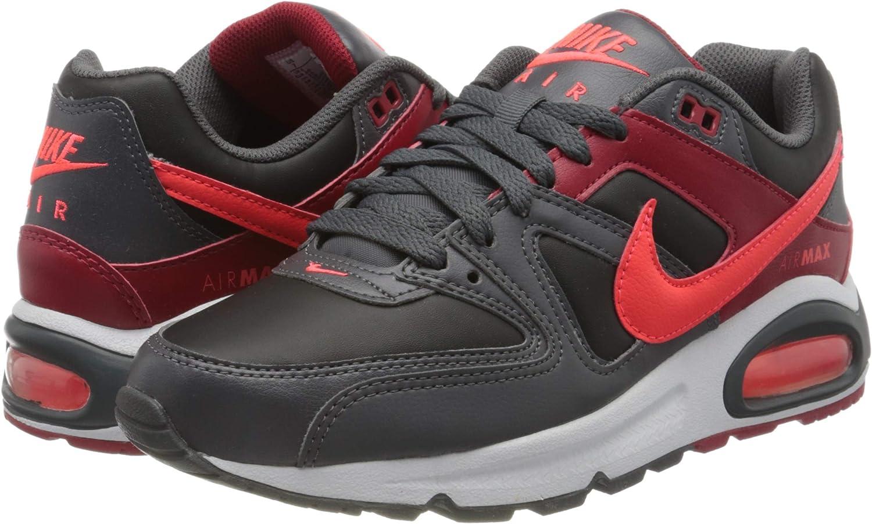 Nike Mens Air MAX Command Shoe, Zapatillas de Running para Hombre, Negro (Black/BRT Crimson/Dk Grey/Gym Red/White 051), 40 EU: Amazon.es: Zapatos y complementos