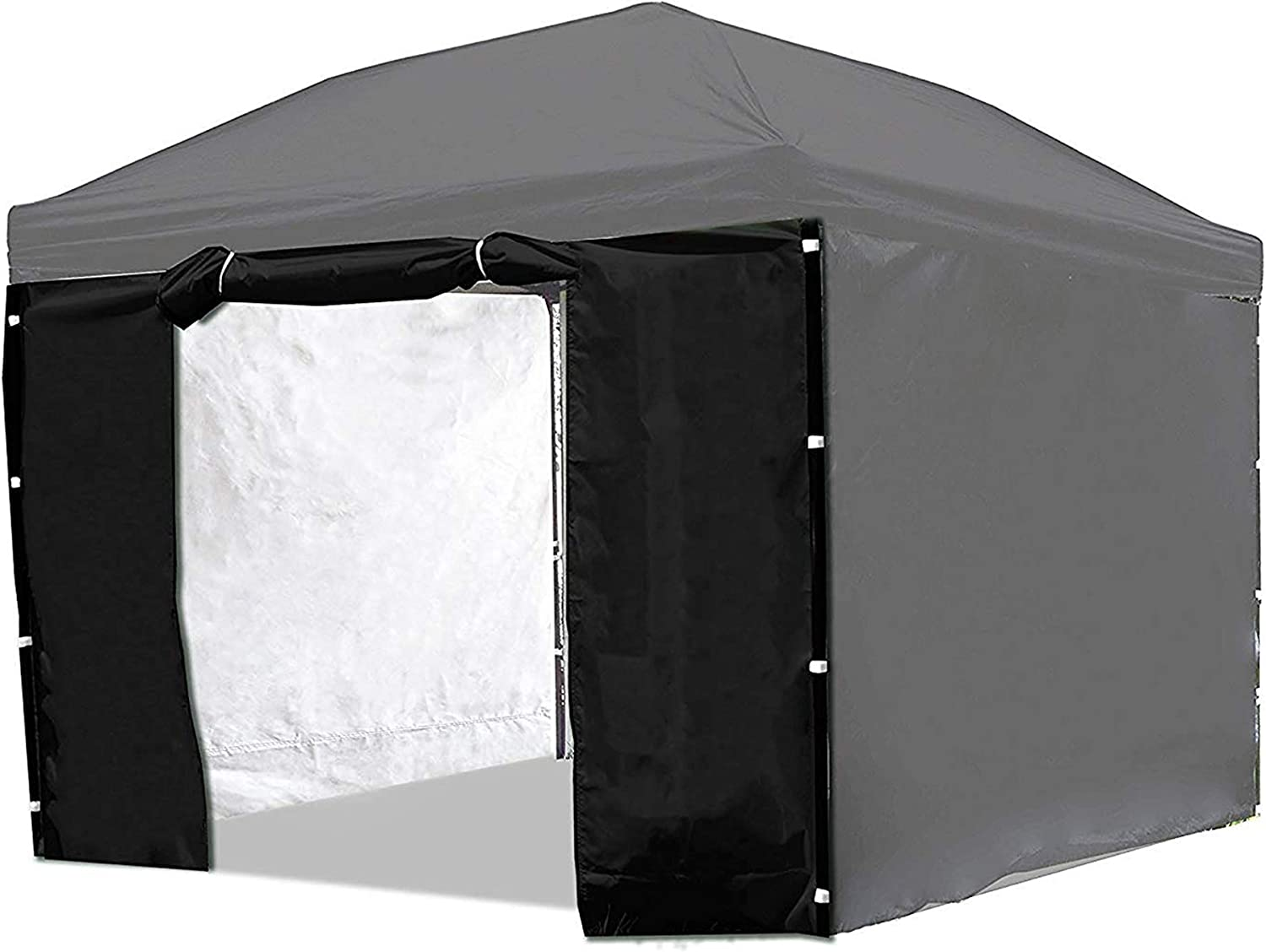 Punchau Canopy Side Wall Door – Black Sidewall with Door for 10×10 Feet Pop Up Canopy Tent