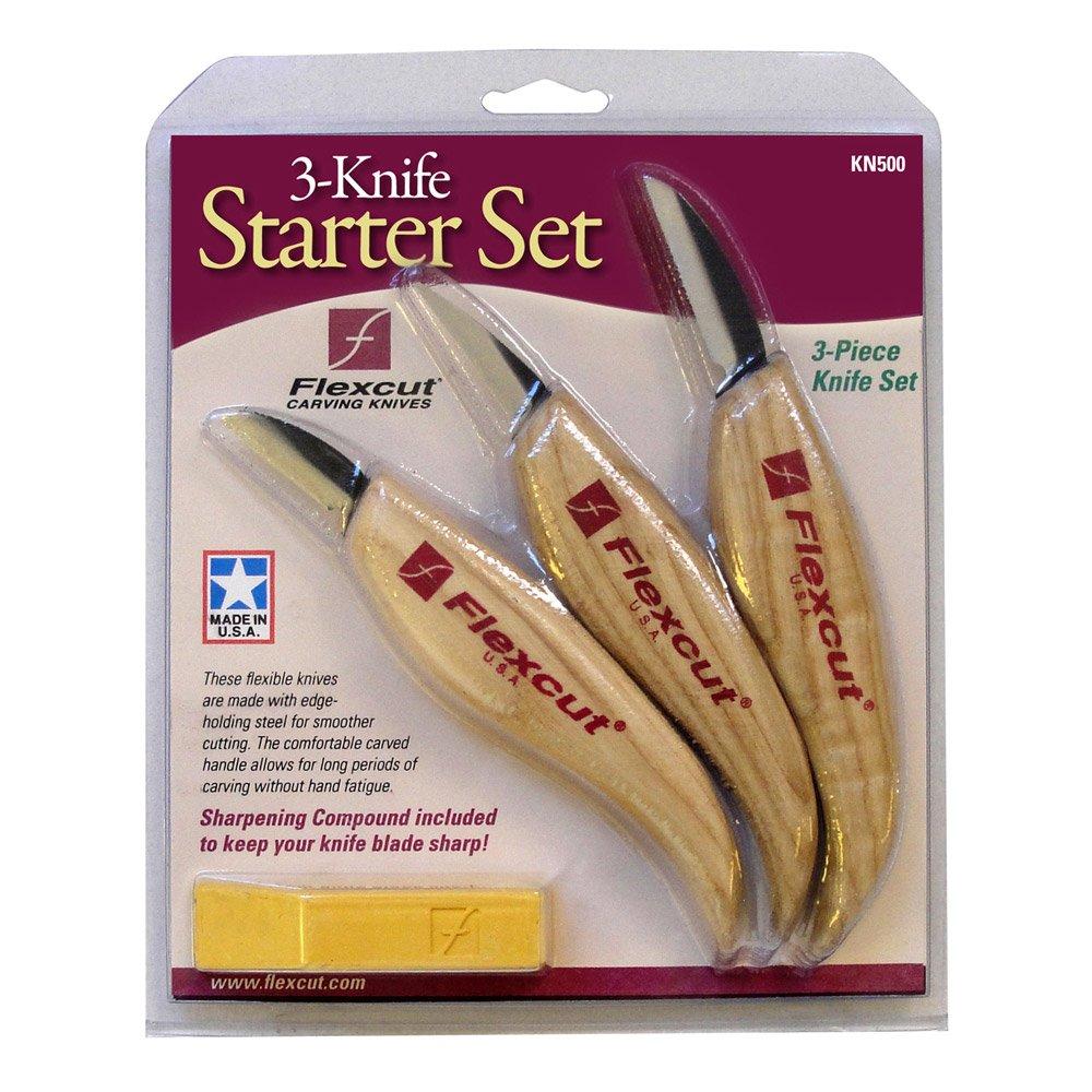 Flexcut Tool KN500, 3-Piece Knife Starter Set