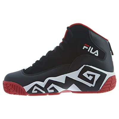 Fila Men's MB Leather Retro High-Top Basketball Trainers Shoes Sneakers | Basketball