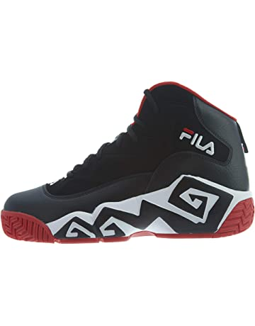 90a93e7edcfe4a Fila Men's MB Leather Retro High-Top Basketball Trainers Shoes Sneakers