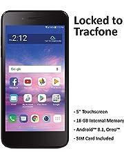 TracFone LG Rebel 4 4G LTE Prepaid Smartphone (Locked) - Black - 16GB - Sim Card Included - CDMA