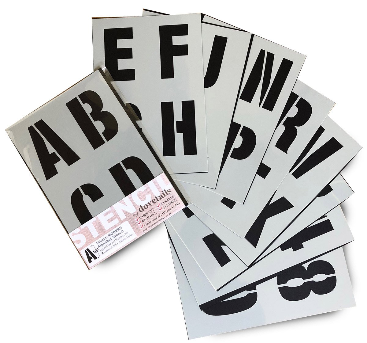 Alphabet Stencil Letter/Numbers 100mm Tall (4