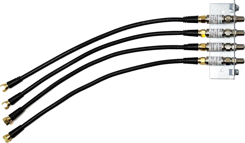 Skt Qew004set Überspannungsschutz Winkel Set Für 4 Fach Multischalter 4x 35 Cm Patchkabel Baumarkt
