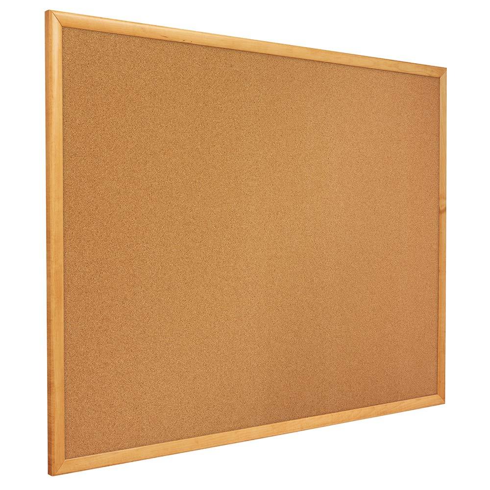 Quartet Corkboard, Framed Bulletin Board, 4 x 3 feet, Corkboard, Oak Finish Frame (304) by Quartet