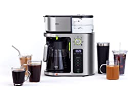 Braun MultiServe Coffee Machine, 7 Programmable Brew Sizes / 3 Strengths + Iced Coffee, Golden Cup SCA Certified, Glass Caraf